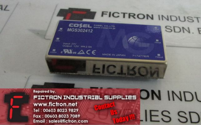MGS302412 COSEL Isolated DC-DC Converter Supply Malaysia Singapore Indonesia USA Thailand