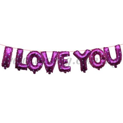 17inch I Love You Foil Balloon Set *Pink (FB-WD-S1702P)