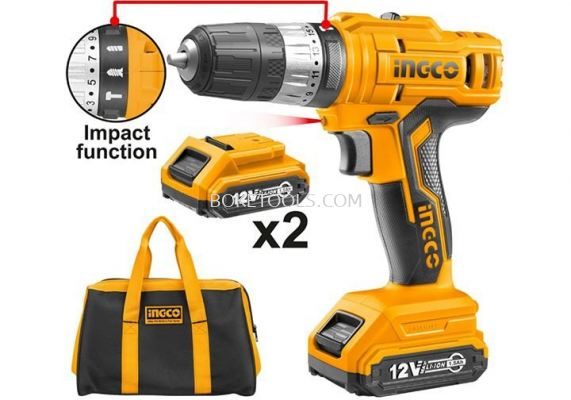 (AVAILABLE IN PIONEER BRANCH) INGCO CIDLI1612 Lithium-ion Impact Drill (16.8V)