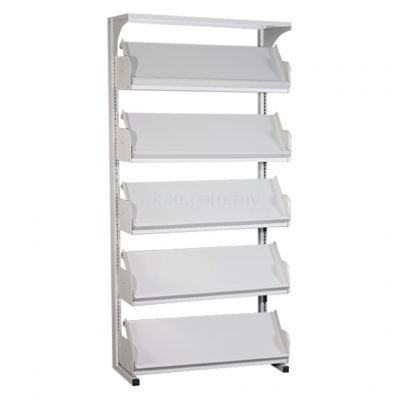 SSLM-5L-OP - Single Sided Magazine Rack (5 Shelves)