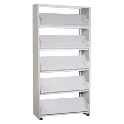 SSLM-5L-SP - Single Sided Magazine Rack With Steel Panel (5 Shelves)