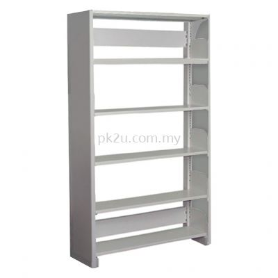 SSLS-5L-SP - Single Sided Library Shelving With Steel Panel (5 Shelves)