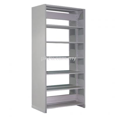DSLS-6L-SP - Double Sided Library Shelving With Steel Panel (12 Shelves)