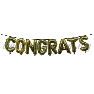 18inch Congrats Foil Balloon Set *Gold (FB-MC-T018)