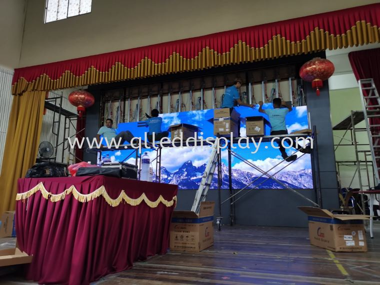 SJK(C) NEW KOTA, KOTA TINGGI, JOHOR. Primary School Hall Stage Effect LED Display Screen