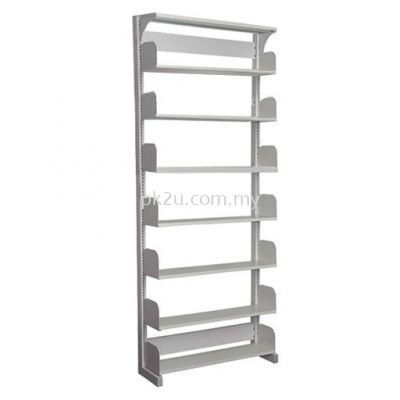 SSLS-7L-OP-A1 - Single Sided Library Shelving With Steel End Panel (7 Shelves)