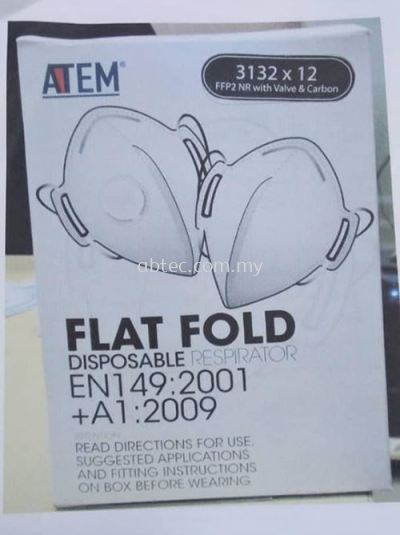 ATEM Flat Fold Disposable Respirator