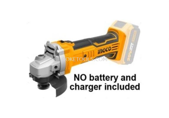 (AVAILABLE IN PIONEER BRANCH) INGCO CAGLI1001 Lithium-Ion Angle Grinder (20V)