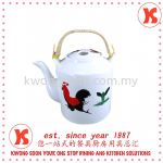 Roaster Chicken Porcelains Tea Pot With Handle