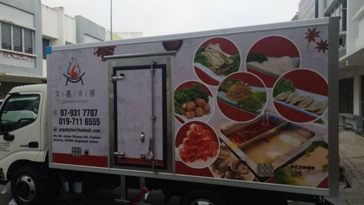 Lorry cold box full wrapping
