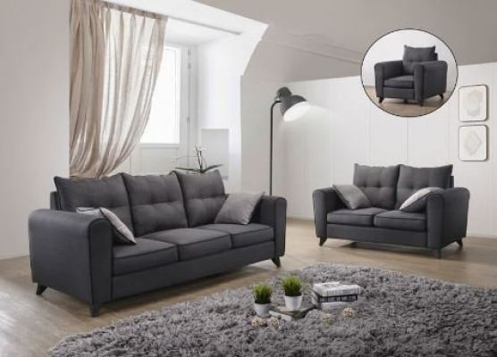 Fabric Sofa Set (1+2+3)