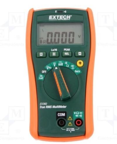 EX360 - 8 Function Electrial Digital Multimeter, EX360 Series, 6000 Count, True RMS, Auto Range