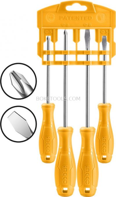 (AVAILABLE IN PIONEER BRANCH) INGCO HKSD0458 4Pcs Screwdriver set