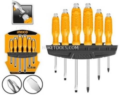 (AVAILABLE IN PIONEER BRANCH) INGCO HSGTDC180601 6Pcs Go-through Screwdriver Set