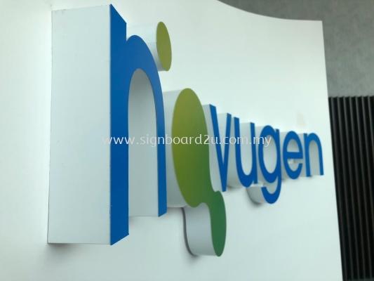 Novugen Pharma (M) Sdn Bhd 3D Boxup LED Lighting Lettering At Sepang, Selangor