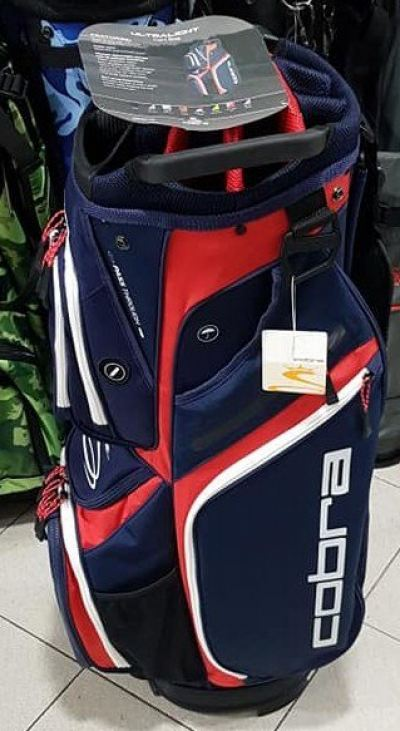 Cobra Ultralight Cart Bag Navy/Red/White 2020