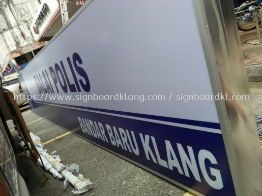 Balai polis Light box signboard at klang