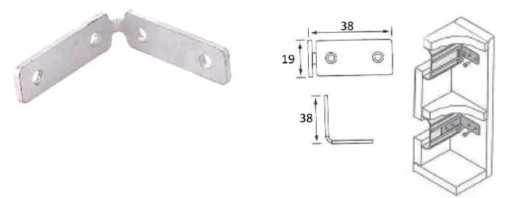 BRACKET FOR T107 ALUMINIUM PROFILE HANDLE