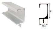 T3557 35MM ALUMINIUM PROFILE HANDLE Aluminium Profile Handle Aluminium Extrusion