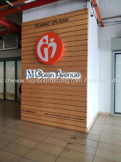 Jm Ocen Avenue Eg Box up 3D lettering LED backlit signage at sri petaling Kuala Lumpur