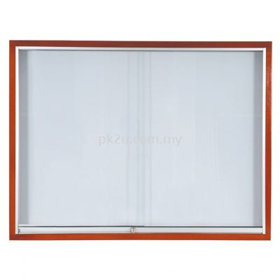 Sliding Glass Cabinet �C Wooden Frame