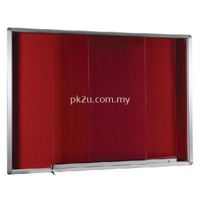 Sliding Glass Notice Board �C Aluminium Frame