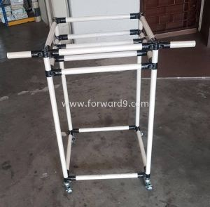 ABS Pipe & Joint 2 Tier Racking Trolley with Handle