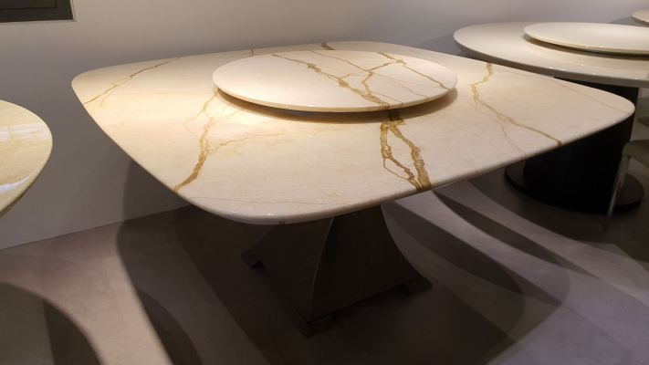 8 Seater Square Marble Dining Table