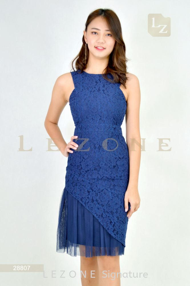 28807 LACE BODYCON DRESS【1st 10% 2nd 20% 3rd 30%】