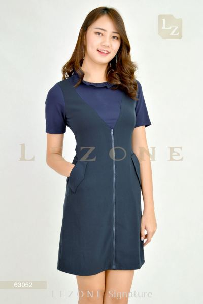 63052 PLUS SIZE CONTRAST SLEEVE DRESS��2ND 50%��