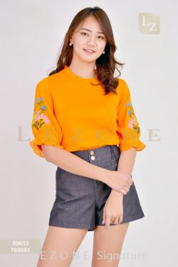 89653 EMBROIDERED SLEEVE BLOUSE 【30% 40% 50%】