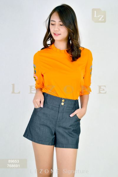 768691 Double Button Short Pant