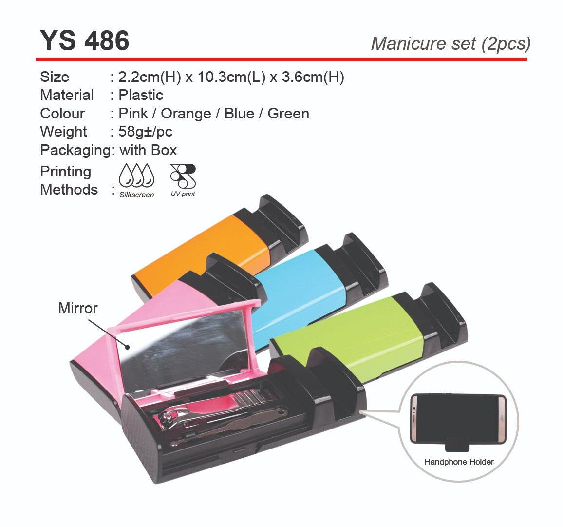 YS486 Manicure Set (2pcs)