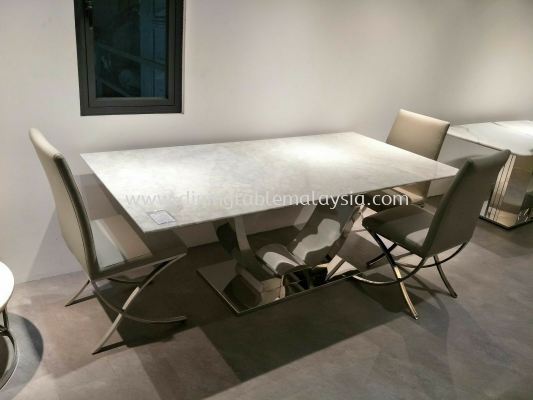 White Marble Dining Table Set With Chairs For 8 Seater