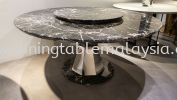 Marrone | Turkey | 8 seaters | Table only (Last Unit) RM8,500 Marble Dining Table Promotion / Clearance Item