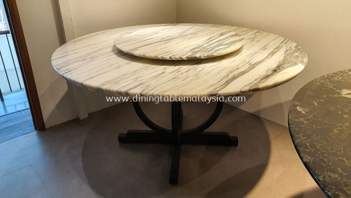 8 Seaters White Marble Table