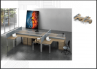 HOL-18-SL-6 6 PAX WORKSTATION WORKSTATION SERIES Office Working Table Office Furniture