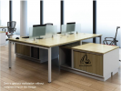 HOL-SPACIOUS 4 PAX WORKSTATION WORKSTATION SERIES Office Working Table Office Furniture