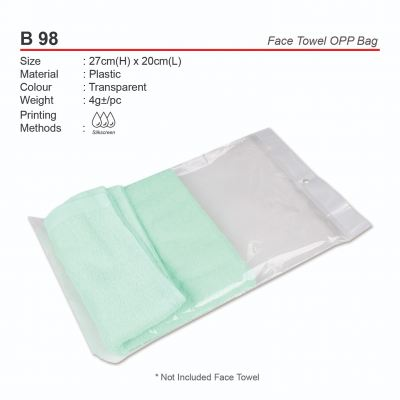 B98  Face Towel OPP Bag