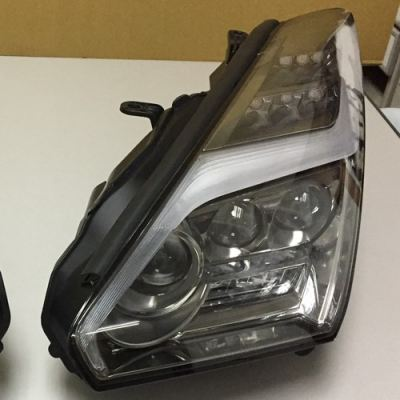 Nissan R35 Facelift Head Lamp Projector Titanium W/Light Bar + Full LED Function