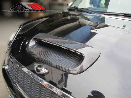 Mini Cooper R56 Duell AG bonnet Carbon scoop
