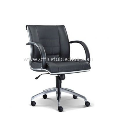 BOSSI EXECUTIVE LOW BACK CHAIR C/W CHROME TRIMMING LINE ASE 1073
