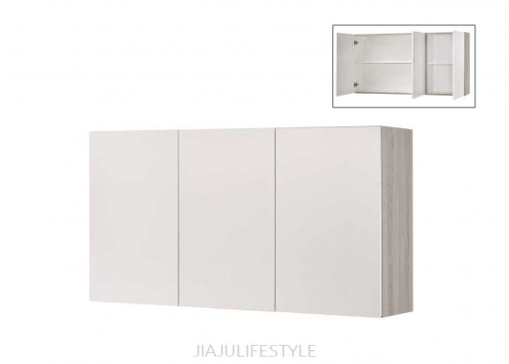 4.5FT Kitchen Cabinet (Wall Unit) with High Gloss White