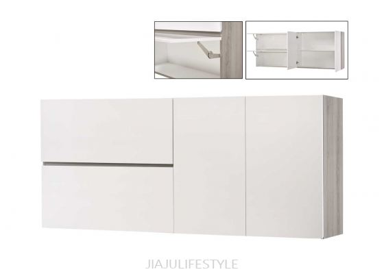 6FT Kitchen Cabinet (Wall Unit) with High Gloss White