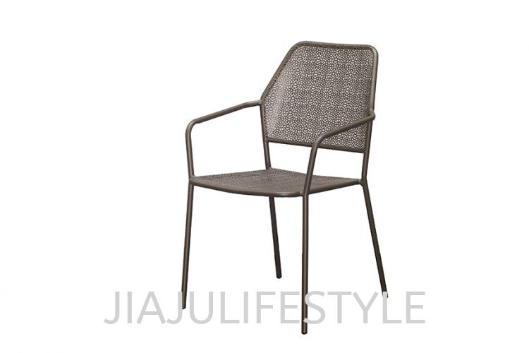 Outdoor Steel Chair - Sandy Coffee