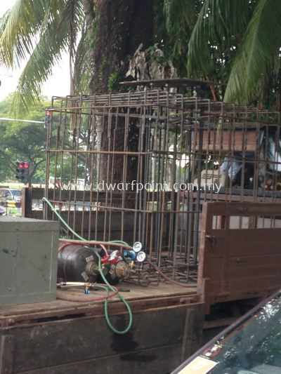 Billboard Steel Cage Footing for Concrete