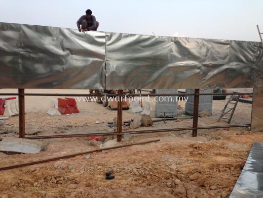 Aluminium or Zinc Hoarding