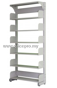 IPS-606 LIBRARY SINGLE SIDED RACK WITHOUT STEEL SIDE PANEL (OPEN)