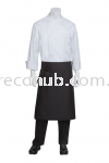 TAPERED CHEF APRON BLACK KITCHEN APPARELS