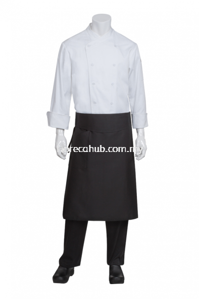 TAPERED CHEF APRON BLACK